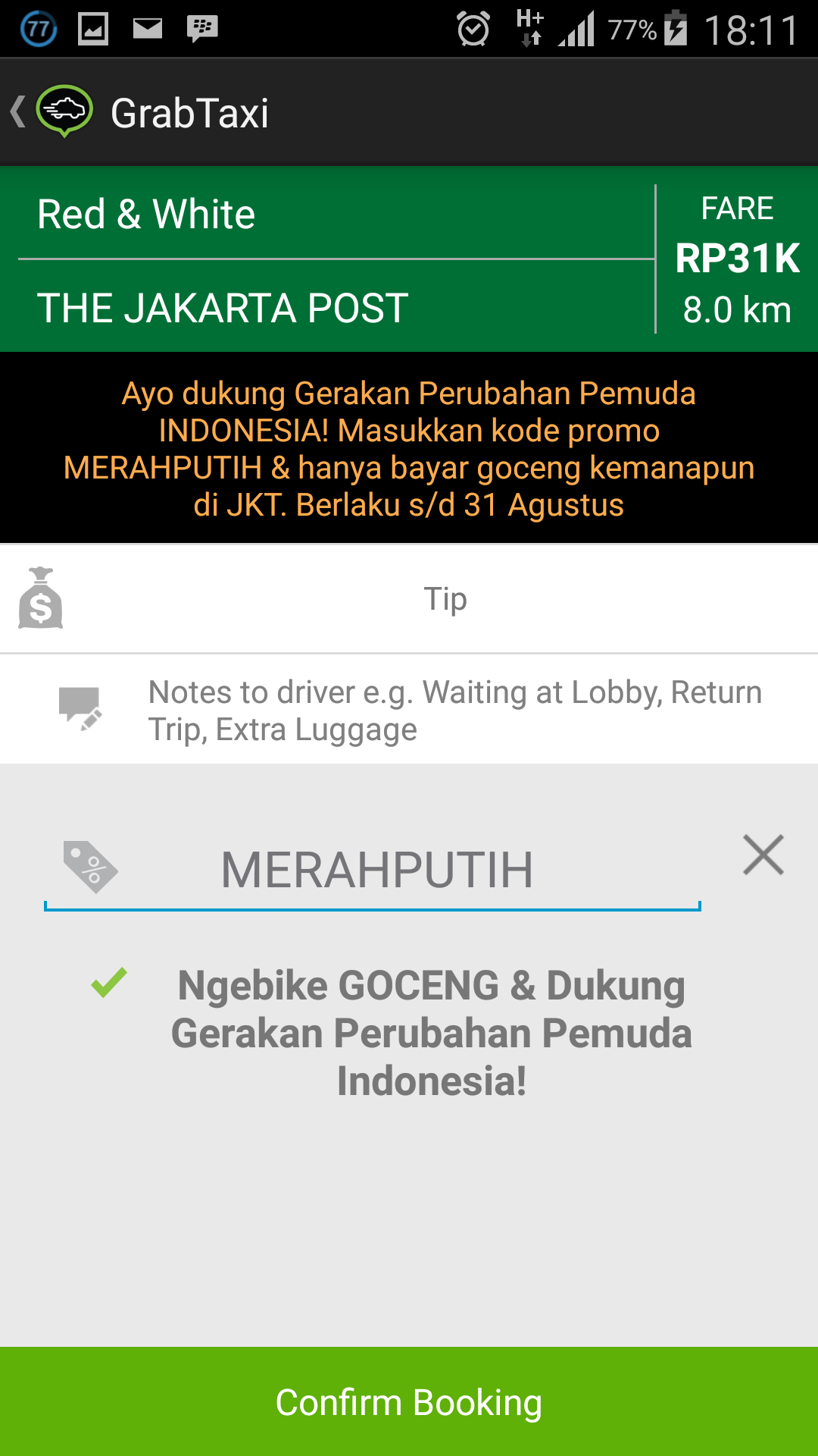 Grabbike Vs Gojek Wpid Screenshot